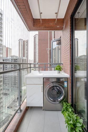 10-15万80平米三室两厅中式风格阳台装修效果图
