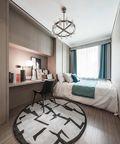 120平米三室两厅现代简约风格青少年房设计图