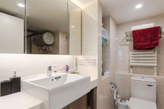 140平米三室三厅日式风格卫生间图片