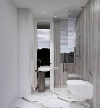 20万以上120平米三室一厅英伦风格卫生间设计图
