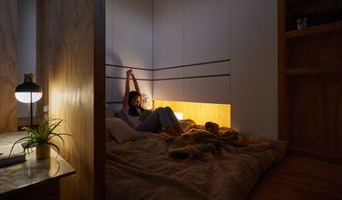 80平米一居室日式风格客厅图