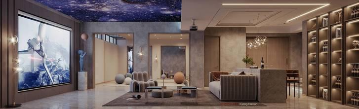 20万以上140平米别墅轻奢风格影音室效果图