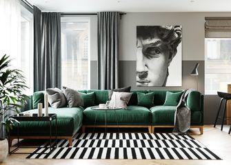 富裕型100平米三室两厅轻奢风格客厅图片