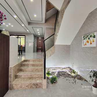 豪华型140平米别墅轻奢风格楼梯间图