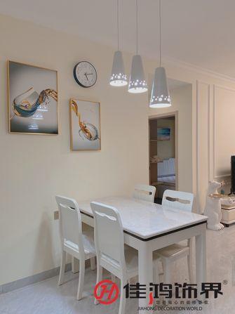 富裕型80平米三室一厅欧式风格餐厅欣赏图