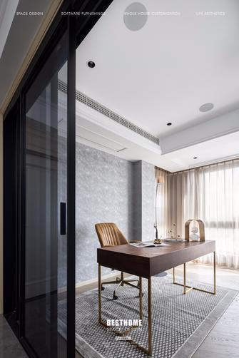 豪华型120平米四室四厅美式风格书房装修图片大全
