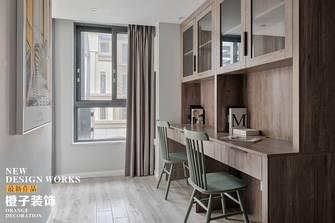 经济型110平米三室两厅北欧风格书房图