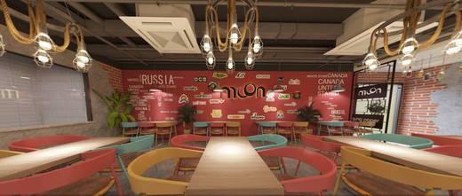 140平米公装风格餐厅设计图