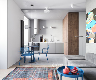 富裕型40平米小户型工业风风格厨房欣赏图