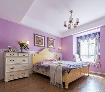 经济型90平米三室两厅田园风格卧室图片