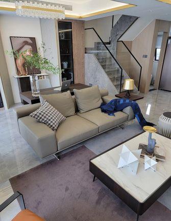 富裕型100平米复式北欧风格客厅装修图片大全