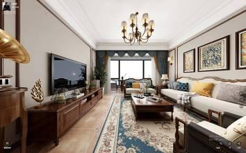 110平米三室两厅美式风格客厅效果图
