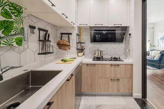 富裕型80平米三室两厅北欧风格厨房图片