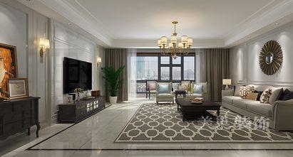豪华型140平米四美式风格客厅装修图片大全