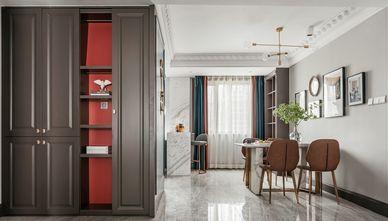富裕型三室一厅轻奢风格餐厅装修图片大全