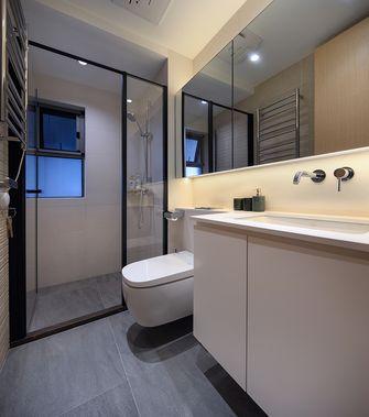 富裕型130平米三室两厅北欧风格卫生间欣赏图