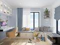 100平米三室一厅法式风格阳台图片