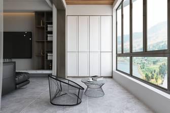 富裕型120平米三室两厅现代简约风格阳台图片大全