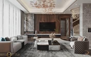 豪华型140平米别墅轻奢风格客厅图片大全