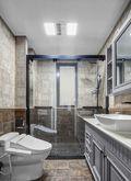 富裕型130平米公寓现代简约风格卫生间效果图