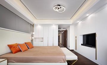 豪华型130平米三室两厅轻奢风格卧室装修图片大全