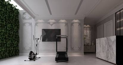 20万以上140平米别墅法式风格健身房装修图片大全