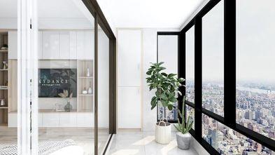 5-10万110平米三室一厅北欧风格阳台图