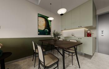 80平米三室两厅公装风格餐厅装修案例