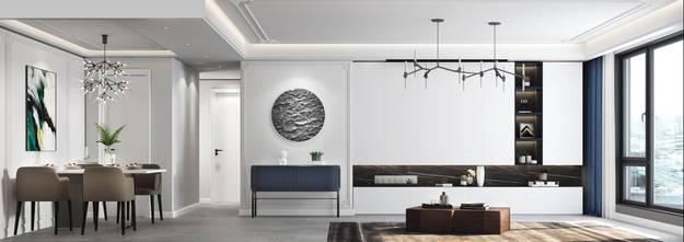 20万以上120平米三室两厅新古典风格客厅装修案例