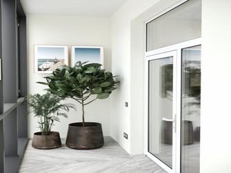 经济型90平米三室两厅北欧风格阳台图片