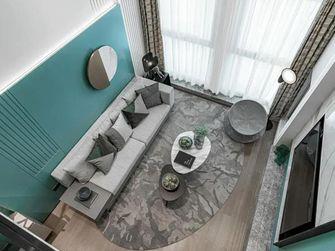 富裕型80平米复式现代简约风格客厅图