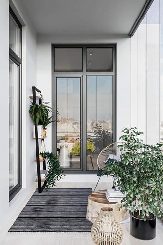 70平米一居室现代简约风格阳台设计图