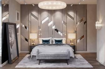 富裕型90平米三室两厅轻奢风格卧室设计图