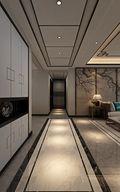 20万以上100平米三室两厅中式风格走廊图