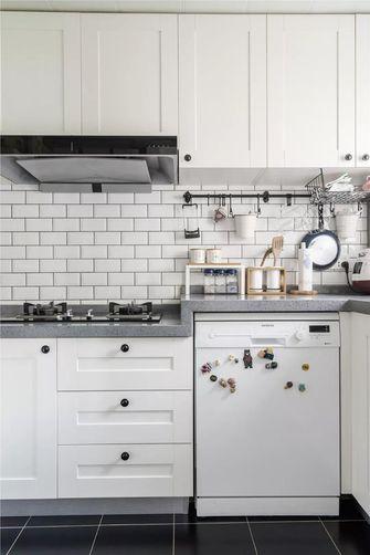 富裕型120平米三室两厅美式风格厨房装修图片大全