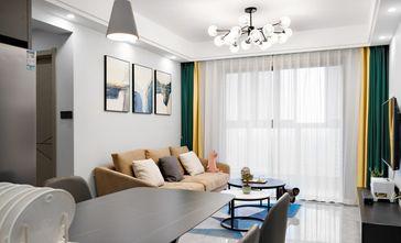 富裕型110平米三室一厅混搭风格客厅装修案例