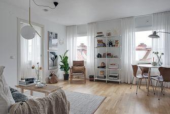 经济型60平米一室两厅现代简约风格客厅图