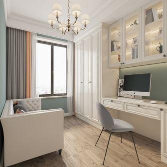 富裕型110平米三室一厅美式风格书房装修案例