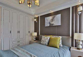 富裕型110平米三室三厅轻奢风格卧室欣赏图
