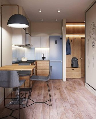 3-5万30平米小户型美式风格餐厅装修案例