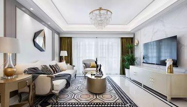 富裕型120平米三室两厅美式风格客厅图片