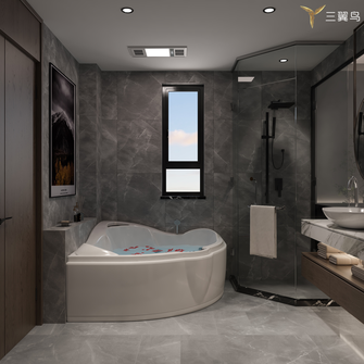 15-20万120平米一居室现代简约风格卫生间欣赏图