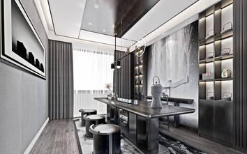 140平米别墅现代简约风格书房设计图
