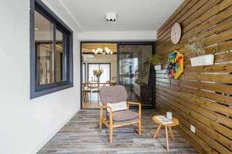 富裕型130平米三室两厅日式风格阳台图片