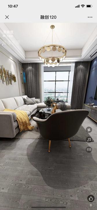 富裕型120平米三室四厅轻奢风格客厅装修效果图