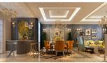 豪华型140平米别墅混搭风格餐厅图