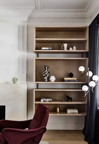 140平米美式风格书房欣赏图