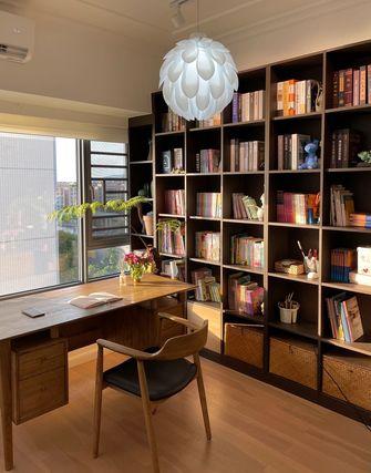经济型100平米三室两厅北欧风格书房图