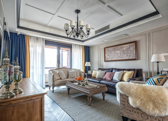 10-15万90平米三室两厅美式风格客厅设计图