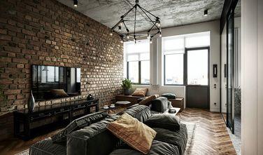 120平米三室一厅工业风风格客厅装修效果图